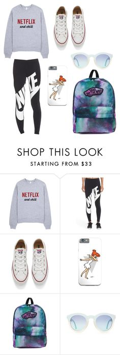 """""""Chill Winter Day"""" by kate-gounaro on Polyvore featuring NIKE, Converse and Vans"""