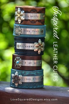 Common Ground: Love Squared Designs stamped leather bracelets