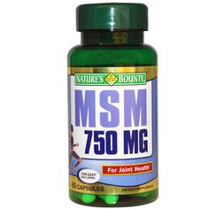 Natures Bounty MSM 750mg  EXP 10/16 Joint Health 60 Capsules  #NaturesBounty