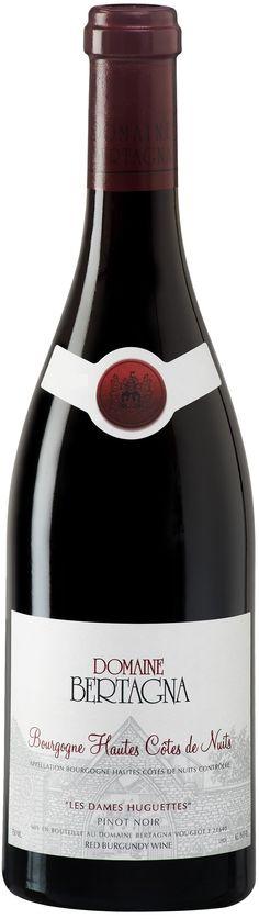 """""""Les Dames Huguettes"""" Pinot Noir 2013 - Domaine Bertagna, Vougeot, Bourgogne-------------------Terroir: Bourgogne Hautes Côtes du Nuits AOC - Bourgogne-----------Crianza: 12 meses en barricas de roble francés"""