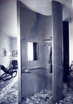 Pietro Lingeri - Condominio con residenza e studio dell'architetto, Milano Mid Century Interior Design, Mid-century Interior, Country House Interior, Contemporary Interior Design, Apartment Interior, Interior Ideas, Home Interiors And Gifts, Vintage Interiors, Minimalist Home Interior