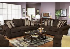 Shop for a Jersey Chocolate7 Pc Living Room at Rooms To Go. Find Living Room Sets that will look great in your home and complement the rest of your furniture.