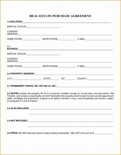 Template Ideas Real Estate Purchase Contract Simple Agreement Intended For Home Purchase Agreement Template - Professional Templates Ideas Real Estate Forms, Real Estate Contract, Real Estate Sales, Best Templates, Templates Printable Free, Letter Templates, Design Templates, Printables