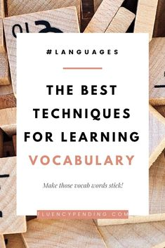 The Best Techniques for Learning Vocabulary   Fluency Pending
