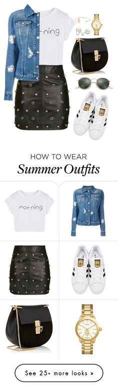 """Outfit 488"" by caa123 on Polyvore featuring Topshop, WithChic, Versus, adidas Originals, Chloé, Allurez, Tory Burch, Humble Chic and Ray-Ban"