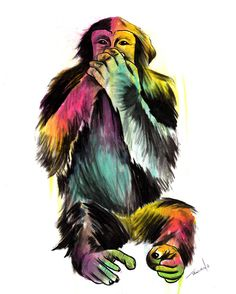 Speak No Evil Painting by Matt Truiano - Speak No Evil Fine Art Prints and Posters for Sale