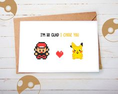 Cute Pokemon Greeting Card Pikachu Ash Valentines Card Anniversary Card Romantic Card Gift Post Card for girlfriend for boyfriend (4.20 EUR) by playerNo2