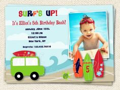 Surf's Up  Surfing theme  Custom Printable Photo by LollipopPrints, $12.59