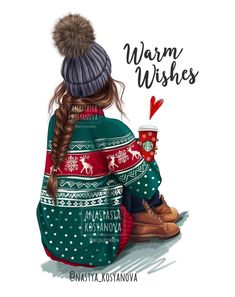 Warm Holiday Wishes? CHRISTMAS collection for my shop . Warm Holiday Wishes? Christmas Sketch, Christmas Drawing, Christmas Art, Christmas Morning, Xmas Holidays, Christmas Quotes, Christmas Fashion, Christmas Ideas, Illustration Mode