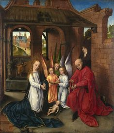 'Nativity' attributed to Hans Memling (German-born Flemish painter, 1435-1494), c.1460-70