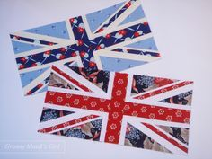 Union Jack quilt block tutorial by Granny Maud's Girl