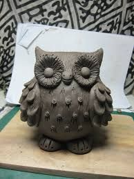 great horned owl clay - Google Search