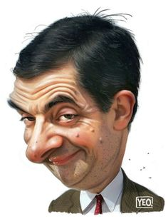 Rowan Atkinson as Mr Bean - Komiker - Caricature