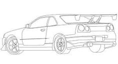 Image result for nissan skyline gtr to draw