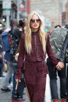 New York Fashion Week весна-лето 2016 - street style