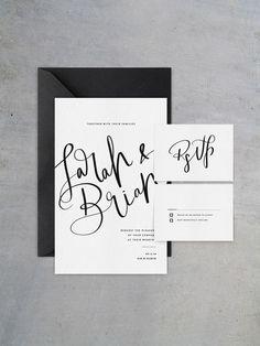 Romantic Black & White Wedding Inspiration