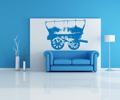 Vinyl Wall Decal Sticker Chuck Wagon #OS_AA515 | Stickerbrand wall art decals, wall graphics and wall murals.