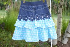 """Sew Much To Give: Ruffled Jean Skirt for """"Skirting the Issue"""""""