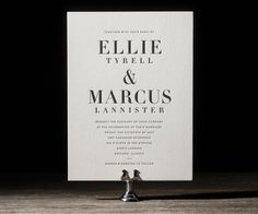 The chic new Roosevelt design by Jessica Tierney for Bella Figura featuring bold fonts + crisp black letterpress
