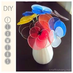 Stocking or Nylon Flowers tutorial - like vintage DIY Flowers from the 70s