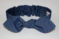Hey, I found this really awesome Etsy listing at https://www.etsy.com/listing/256143197/denim-knot-headband-polka-dot-blue-baby