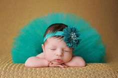 Newborn-Baby-Girls-Green-Tutu-Skirt-Head-Flower-Photo-Photography-Costume-Prop