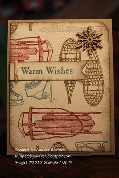 Snippets: Warm winter wishes Coffee Cards, Scrapbook Cards, Scrapbooking, Stamping Up Cards, Winter Cards, Masculine Cards, Christmas Wishes, Alpine Adventure, Stampin Up