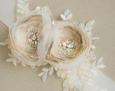 Boda oro correa cinturón nupcial novia cintura cinturón Champagne marco marco nupcial Floral florales de la boda banda boda cinturones fajas