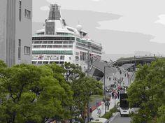 港湾局長賞 大さん橋にでっかい船が!