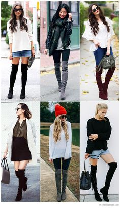 Personal Style Bloggers wearing Stuart Weitzman Lowland Flat Over-The-Knee Boots