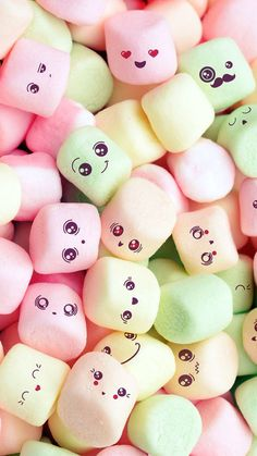 Apple iPhone SE Wallpaper 09 0f 50 - Cute Marshmallow Faces