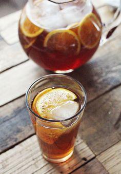 Orange and Honey Sweet Tea; Looks like a tasty combination. I just use less sugar.