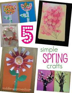 Simple Toddler Crafts for Spring