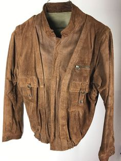 Mens Hero Pelle Vintage Brown Suede Leather Davidson Motorcycle Vest 48 Chest Men's Clothing Clothes, Shoes & Accessories