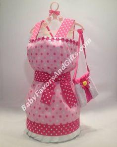 Dress Diaper Cake - Baby Girl Diaper Cakes