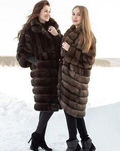 Sable Fur Coat, Fox Fur Coat, Fur Coats, Fur Fashion, My Girl, Women Wear, Long Hair Styles, Furs, How To Wear