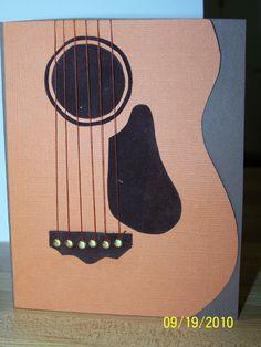 The Guitar card - Scrapbook.com--good for a guy