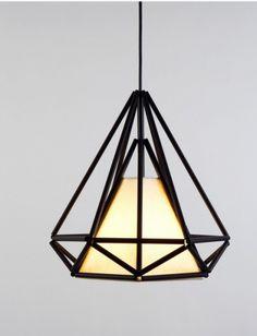 Replica Himmeli One Light Pendant Lamp in Black Lucretia Cool Lighting, Modern Lighting, Lighting Design, Small Pendant Lights, Pendant Lighting, Light Pendant, Pendant Lamps, Wire Pendant, Architecture Restaurant