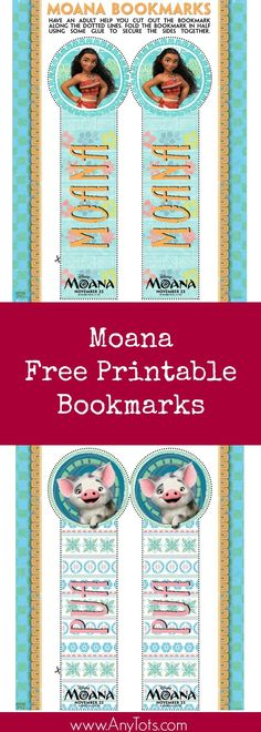 Moana Free Printable Bookmarks. You can add it as a Moana Party Favor to a Moana Birthday Party.