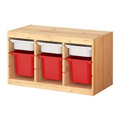 """TROFAST storage combination with boxes, multicolor, pine Width: 37 """" Depth: 17 3/8 """" Height: 20 1/2 """" Width: 94 cm Depth: 44 cm Height: 52 cm LEGOS $90.99"""