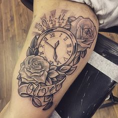 Image result for clock tattoos