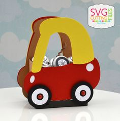 Ride In Car Box no directions😡 Paper Box Template, Box Templates, Craft Bags, 3d Craft, Birthday Box, Birthday Ideas, Diy Gift Box, Back To School Gifts, Car Box