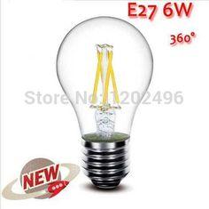 NA 1PCS E27 3W 6W 9W 12W LED Chips LED Bulb Light Lamps Glass Globe Lamp Edison Filament bulb Warm/White 110V-240V High Power
