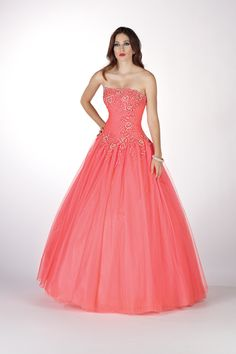 Quinceanera Ball gown by Alyce Paris 9078 Lace and Tulle! Reminds me of Casandra's dress
