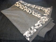 Blanket wool walk / loden with felt pebbles by flussdesign on Etsy