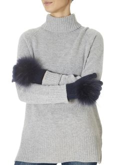These are the Navy Fur Pom Gloves by our own brand ' They feature a sweet fur pom and soft feel. These gorgeous gloves will add a chic touch. Green Fur, Khaki Green, Black Quilt, Fur Pom Pom, Quilted Leather, Leather Gloves, Blue Fabric, Fur Trim, Beanie Hats