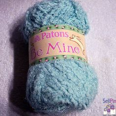 $50.00 : Sweetie Aqua Blue Patons Be Mine Yarn Lot of 10 Skeins Bulky Nylon 1.75oz ea NEW