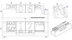 Office perpetual calendar plan – Assembly 2D drawing