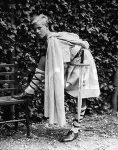 Prince Phillip of Greece, later the Duke of Edinburgh, in costume for his role as Donalbane in a production of Macbeth at Gordonstoun. August 2, 1935 Grampian, Scotland, U