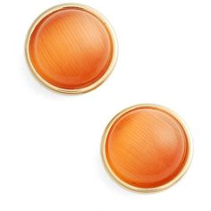 Women's Kate Spade New York 'Forever' Stud Earrings (£31) ❤ liked on Polyvore featuring jewelry, earrings, orange, stud earrings, kate spade earrings, polish jewelry, gold plated earrings and gold plated jewellery